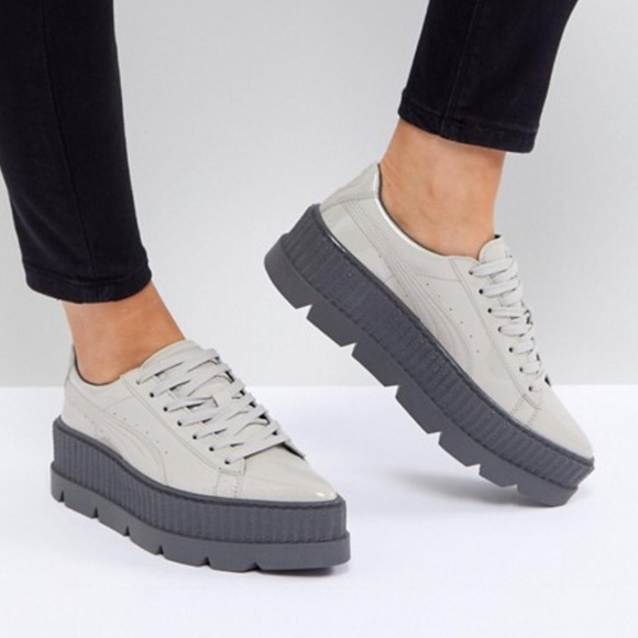 92a9b34dbca8 Puma Fenty Pointy Creeper Patent Glacier Gray NEW